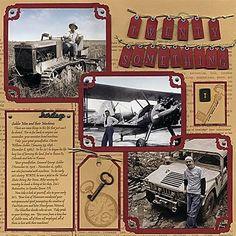 heritage scrapbooking layouts | Heritage Scrapbook Pages: Twenty Something