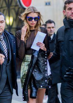 Stella Maxwell - Fall 2016 Paris Fashion Week Day 3 - March 3, 2016