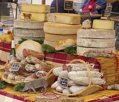 Meats and cheese in Beaune