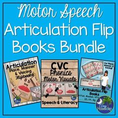 This bundle contains my CVC Flip Books, Articulation Words Flip Books, and Articulation Words for Later Sounds in one money saving bundle!  Save 20% on this unit everyday.  This is a huge unit that I use in therapy to help my students who struggle with reading and speech.