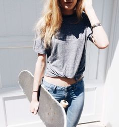 girl, fashion, and skate image New Fashion, Girl Fashion, Fashion Dresses, Womens Fashion, Fashion 2018, Skater Girl Style, Girl Outfits, Cute Outfits, Skate Girl
