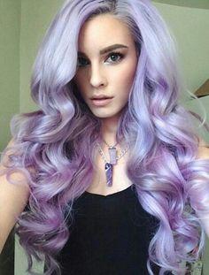 Purple pastel hair color