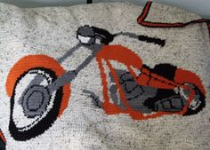 motorcycle afghan crochet pattern graph