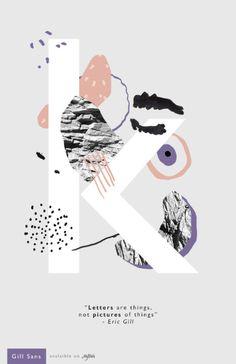 Gill Sans - Posters by Dough Rodas, via Behance Graphic Design Posters, Graphic Design Typography, Graphic Design Inspiration, Graphic Art, Web Design, Book Design, Design Art, Design Graphique, Art Graphique