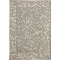 Safavieh Courtyard 5-ft 3-in x 7-ft 7-in Rectangular Gray Transitional Indoor/Outdoor Area Rug - Lowes