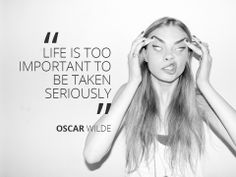 Oscar Wilde with a little help from Cara Delevingne #quote