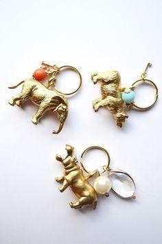 Goldene Schlüsselanhänger