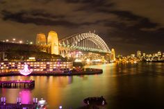 Vivid Sydney - Go For Fun: Travel, Sailing, Photography - Inspiration, Tips, Adventures - Australia and The World! Most Beautiful Cities, Sydney Harbour Bridge, Light Photography, Places To Travel, The Good Place, Sailing, Australia, Adventure, Thomas Smith