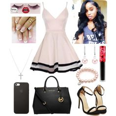 AS YOU ALL CAN SEE BACK AT IT by xbabyxdesx on Polyvore featuring polyvore fashion style MICHAEL Michael Kors Nadri Black Apple shu uemura Lime Crime
