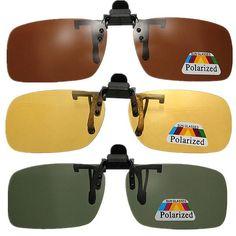 0fccfdd371 Clip-on Gafas de Sol Lente de Gafas de Visión Nocturna Polarizadas Clip On  Sunglasses