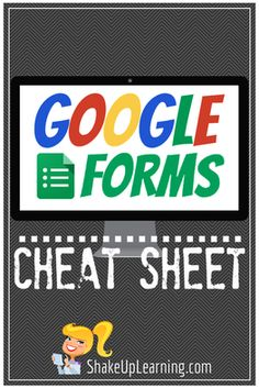 A Google Forms Cheat Sheet for Teachers! Google Forms is a powerful tool for teachers, and while it may seem very simple at first, it is loaded with options and features for teachers. This Google Forms Cheat Sheet will help new and novice users learn how to create and use powerful forms, surveys and assessments. You will find form setting highlights, and a detailed table of all question types. A great resource for even the most Google-savvy teachers.