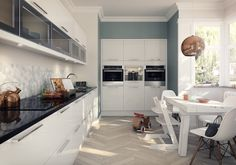 Create a showpiece look with out Studio Kitchen range, featuring seamless styling with soothing finishes. Shop this cutting edge kitchen style today. Kitchen Cabinets Units, High Gloss Kitchen Cabinets, Kitchen Wall Units, Solid Wood Kitchen Cabinets, White Gloss Kitchen, Classic White Kitchen, White Kitchen Backsplash, White Kitchen Decor, Kitchen Ideas