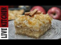 Συνταγή!!για Πεντανόστιμη&Νηστίσιμη Σιροπιαστή Μηλόπιτα-Apple pie recipe/Live Kitchen - YouTube Greek Desserts, Tasty Videos, Fruit Recipes, Kitchen Living, Apple Pie, Dairy, Sweets, Cheese, Vegan