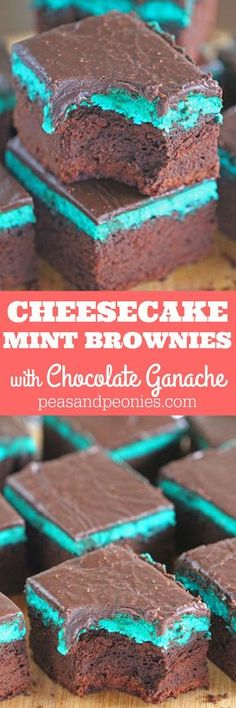 Rich and chocolaty Mint Brownies are topped with a creamy Mint Cheesecake layer and finished with a sweet layer of Chocolate Ganache. Perfect for St. Patrick Day!