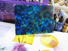 Silverwolf Cards-welcome to my world of stamping: alcohol ink on prism cardstock.  Looks like glass paint on a mirror.  Has lots of ideas for alcohol inks.