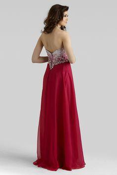 Clarisse 2014 Pomegranate Raspberry Fuchsia Strapless Sweetheart A-Line Prom Dress 2323 | Promgirlnet