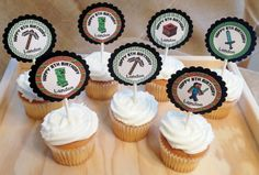 15 Personalized Minecraft Cupcake Topper Birthday by susanefird