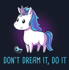 Get comfortable in hundreds of cute, funny, and nerdy t-shirts. TeeTurtle has the perfect super soft shirt to make you smile! Real Unicorn, Unicorn Art, Magical Unicorn, Cute Unicorn, Rainbow Unicorn, Unicorn Poster, Unicorn Pics, Cartoon Unicorn, Unicorn Horse