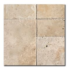 STONE:TRAVERTINE  ____________________________________________  SIZE:  In set form. 1 set contains the following sizes:  1 x 406x610x12mm  1 x 203x406x12mm  2 x 203x203x12mm  2 x 406x406x12mm  ____________________________________________  FINISH:BRUSHED, CHIZZLED EDGE  ____________________________________________  APPLICATION: INDOOR, OUTDOOR French Pattern, Rustic French, Stone Tiles, Travertine, Natural Stones, Indoor Outdoor, Tile Floor, Kitchens, It Is Finished