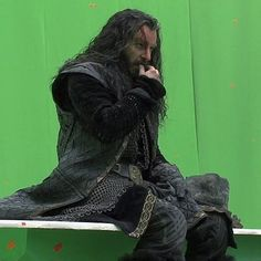 Richard Armitage as Thorin Oakenshield BTS funeral