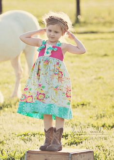 Easter dress spring dress Mia Floral Knot by JellylouCreations