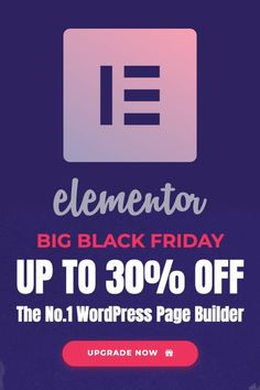 Black Friday 2019 is here and the Elementor team is giving away some great offers to Elementor newbies! Check out our special Black Friday 2019 offer! Marketing Websites, Marketing Software, Black Friday Deals, Wordpress Plugins, Big Black