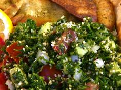 Tabouli is a Middle Eastern salad that contains Parsley that is very nutritious, and very tasty.