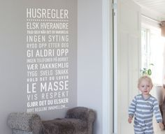 Happylines.no - 'Husregler' Wallsticker