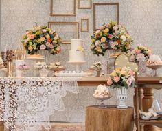 DECORAÇÃO LINDA DE CHÁ, NOIVADO E MINI WEDDING - Madrinhas de casamento