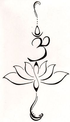 "A lotus to represent a new beginning, or a hard time in life that has been overcome and the symbol ""Aum"" from the Buddhist mantra to stand for love, kindness and protection.this symbol is also said to purify hatred and anger. Neue Tattoos, Bild Tattoos, Original Tattoos, Armband Tattoos, Tatoos, Arrow Tattoos, Tattoos Om, Budist Tattoo, Yoga Tattoos"