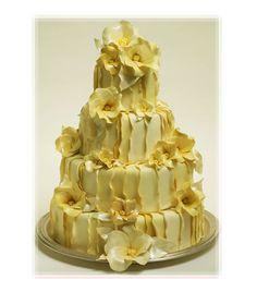 Yellow-Ruffled-Wedding-Cake