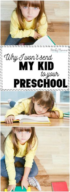 THis mom is right. We don't have to send our kids to preschools that don't care…