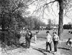 Queen's Park • 1960 Old London, West London, London Photos, Old Buildings, England Uk, Ephemera, Fields, Queens, Dolores Park
