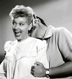 """Lucille Ball and Desi Arnaz's costume test for """"I Love Lucy."""" (x)"""