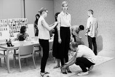 Final fittings before the Altuzarra Spring 2015 show