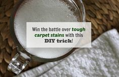 Homemade DIY Cleaner for Stubborn Carpet Stains