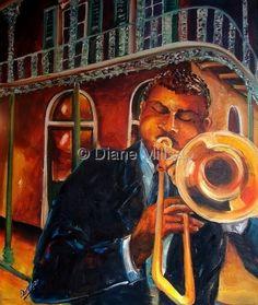 Jazz in the Street by Diane Milsap
