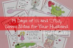 14 Days of Fun and Flirty Love Notes for your Husband for Valentine's Day!