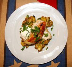 Spiced Cauliflower with Crispy Skinned Chicken
