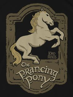 J!NX : Lord of the Rings Prancing Pony Premium Tee - Clothing Inspired by Video Games & Geek Culture