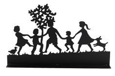 TS Gardendeco Garden upright Family Iron, powder-coated, black, 70x38cm *** More details can be found by clicking on the image. #GardenDecor