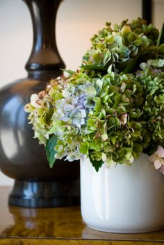 Hydrangeas are available end of November till end of January depending on the weather and come in blue, purple, pink white and green.