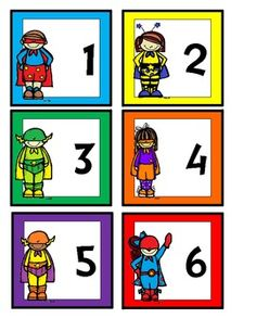 Calendar Cards - Superhero Theme