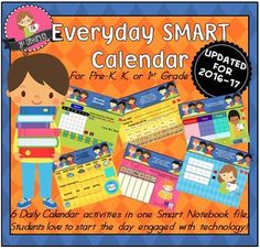 Use this one-year calendar in any Preschool, Kindergarten, or First Grade Class to start your day with routine, learning, technology and fun!