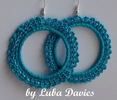 Pattern for adorable crocheted lacy earrings-hoops with beads.Diameter - 6 cmSKILL LEVEL - EASY The pattern written in American crochet terms! Pattern contains all instructions, photos, diagram etc. Crochet Jewelry Patterns, Crochet Earrings Pattern, Lace Patterns, Crochet Accessories, Lace Jewelry, Handmade Jewelry, Crochet Instructions, Artisanal, Organizer