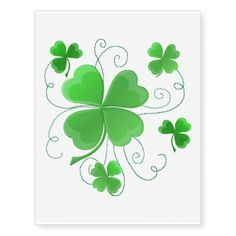 Browse & shop our selection of custom Clover temporary tattoos - Choose your favorite or customize your own at Zazzle! Four Leaf Clover Tattoo, Clover Tattoos, Vine Tattoos, Leaf Tattoos, Celtic Spiral Knot, Shamrock Tattoos, Chalkboard Print, Note Tattoo, Clip Art Pictures