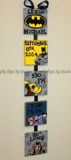 Hand painted Custom Birth Announcement for by SimplySignsByJess