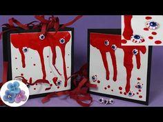 Como Hacer Sangre y Ojos 3D para Bolsas y Tarjetas de Halloween Tutorial Pintura Facil - YouTube