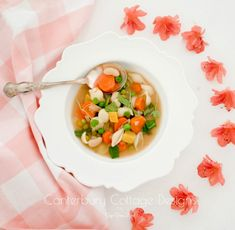 Sunshine in a Bowl Vegetarian Minestrone Soup (Vegan, Gluten-Free) – Canterbury Cottage Designs