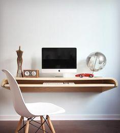 Floating Wall Desk - Rift Oak